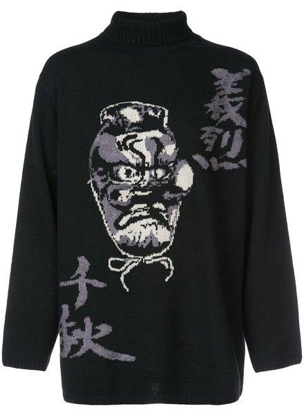 YOHJI YAMAMOTO POUR HOMME YOHJI YAMAMOTO POUR HOMME TENGU TURTLE NECK SWEATER