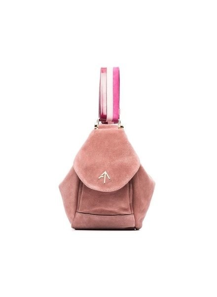 MANU ATELIER MANU ATELIER WOMEN MICRO FERNWEH SUEDE AND VEG TAN AND PATENT LEATHER BAG