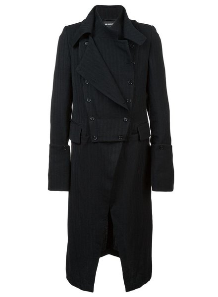 ANN DEMEULEMEESTER ANN DEMEULEMEESTER MEN BUTTON DETAIL DOUBLE LAYER COAT