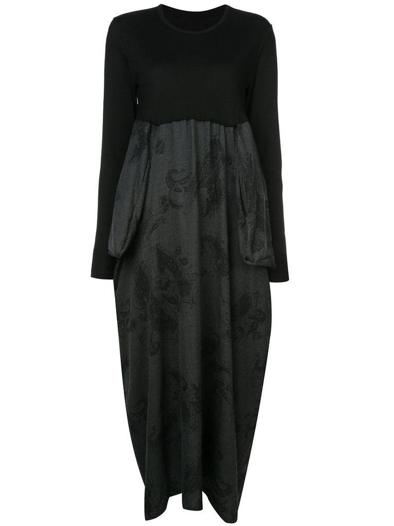 Y~S Y~S WOMEN BIG POCKET COMBO DRESS