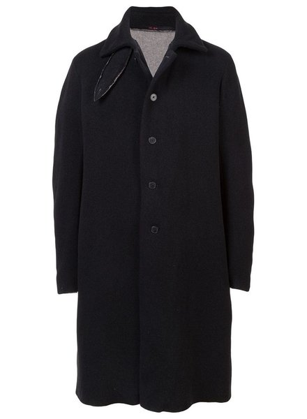 MA+ MA+ MEN HIGH COLLAR WIDE UNLINED COAT