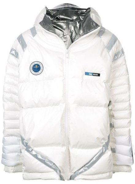 UNDERCOVER UNDERCOVER MEN DOWN JACKET WITH REFLECTIVE DETAILS AND LED LIGHT ON THE HOOD