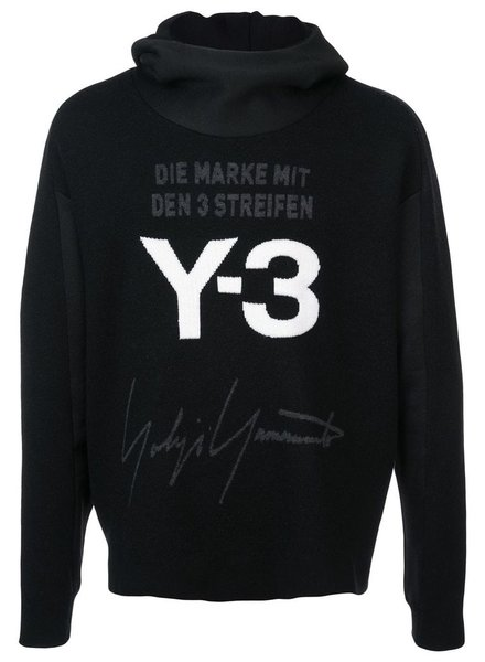 Y-3 Y-3 UNISEX STACKED HOOD KNIT TOP