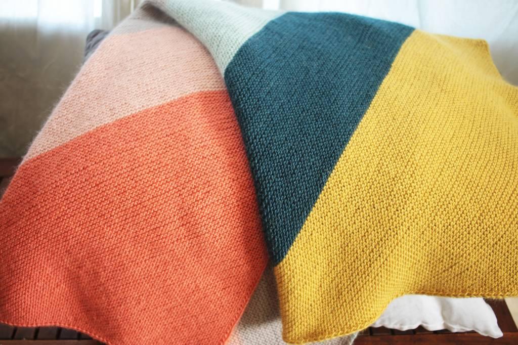 Colorblock Blanket with Cloud9 Fiber's Filo