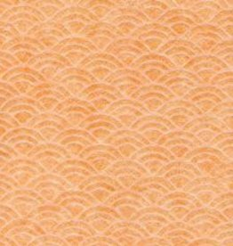 Japan Uminami Lace Tangerine, 21&quot; x 31&quot;<br /> Limited Available