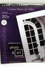 """Germany Hahnemuhle Bright White, Heavy Parchment,  Creative Papers for Inkjet, 285gm, 8.5"""" x 11"""", 15 Sheet Pad"""