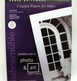 "Germany Hahnemuhle Bright White, Heavy Parchment,  Creative Papers for Inkjet, 285gm, 8.5"" x 11"", 15 Sheet Pad"
