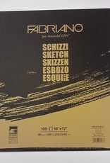 """Italy Schizzi Sketch Pad, 14""""x17"""", 100 Sheets, 90gm Fabriano Paper, Spiral Bound-Micro Perforated"""