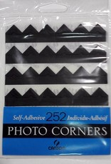 Photo Corners, 252 Self-Adhesive Corners, Black