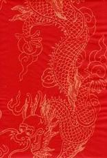 "China Golden Dragon Red, Sumi, 27"" x 54"""