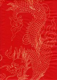 "China Golden Dragon Red, 27"" x 54"""