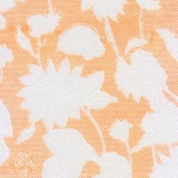 "India Floral Rayon Mandarin Orange, 22"" x 30"""