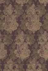 """India Fleur Design Burgundy 22"""" x 30"""""""