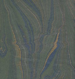"""India Indian Marble, Green Blue with Gold, Feather Design, 22"""" x 30"""" (Limited Quantity)"""
