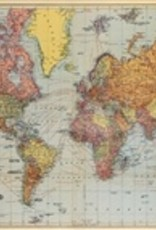 "Italy Cavallini Print, World Map, 20"" x 28"""