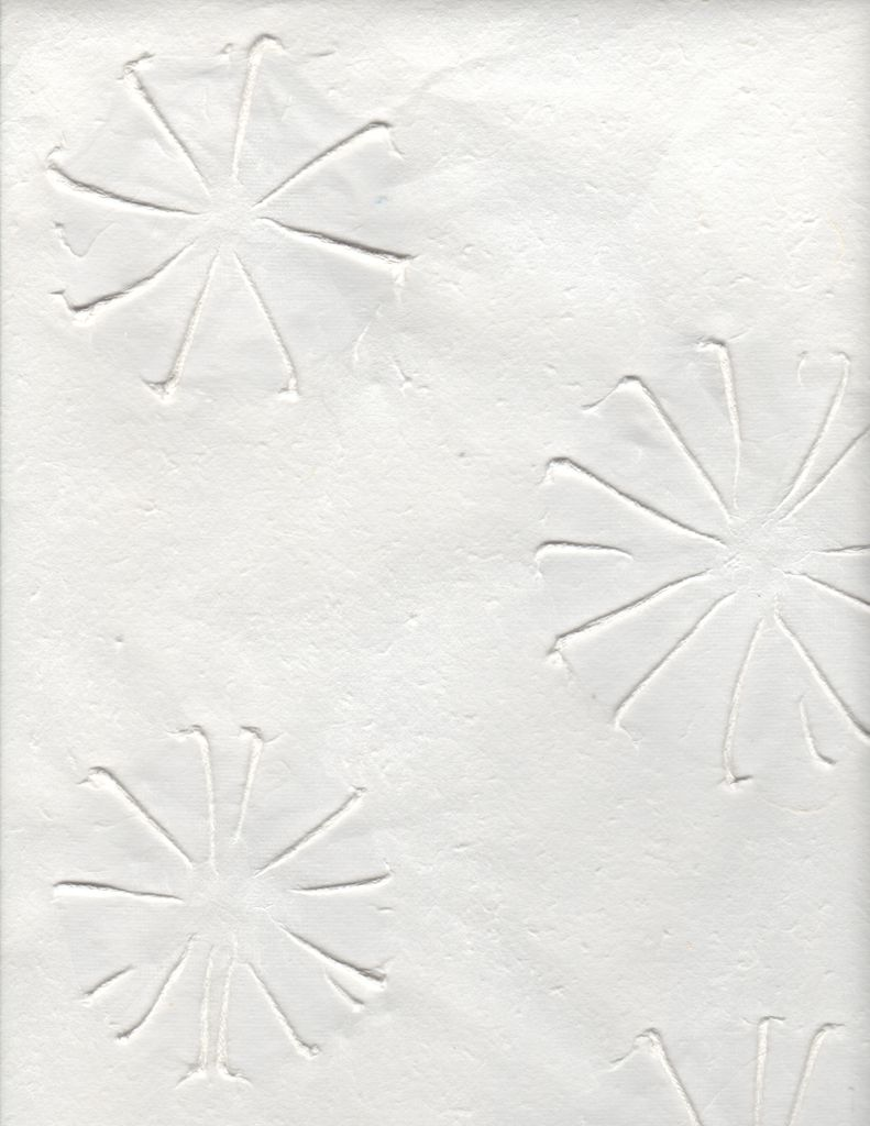 "Thailand Thai Embossed Urchins White, 25"" x 37"""