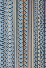 """India Egyptian Design, Blue with Gold, 22"""" x 30"""""""