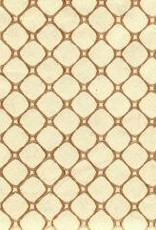 """India India Chainlink, Gold/Brown on Natural, 20"""" x 27""""  Limited Inventory"""