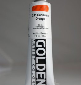Golden, Heavy Body Acrylic Paint, C.P. Cadmium Orange, Series 8, Tube, 2fl.oz.