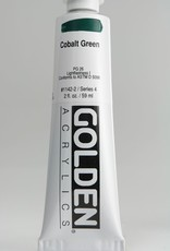 Golden, Heavy Body Acrylic Paint, Cobalt Green, Series 4, Tube, 2fl.oz.