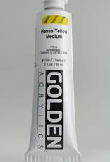 Golden, Heavy Body Acrylic Paint, Hansa Yellow Medium, Series 3, Tube, 2fl.oz.