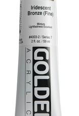 Golden, Heavy Body Acrylic Paint, Iridescent Bronze Fine, Series 7, Tube, 2fl.oz.