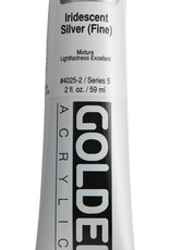 Golden, Heavy Body Acrylic Paint, Iridescent Silver Fine, Series 5, Tube, 2fl.oz.