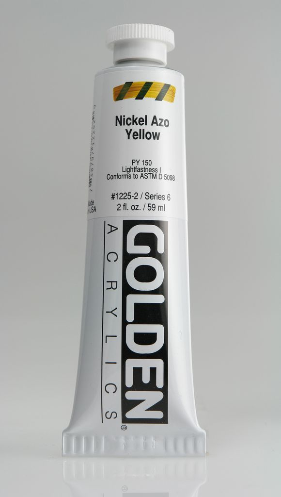 Golden, Heavy Body Acrylic Paint, Nickel Azo Yelow, Series 6, Tube, 2fl.oz.
