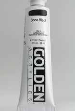 Golden, Heavy Body Acrylic Paint, Bone Black, Series 1, Tube, 2fl.oz.