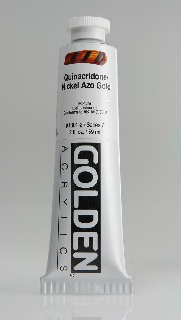 Golden, Heavy Body Acrylic Paint, Quinacridone Nickel Azo Gold, Series 7, Tube, 2fl.oz.