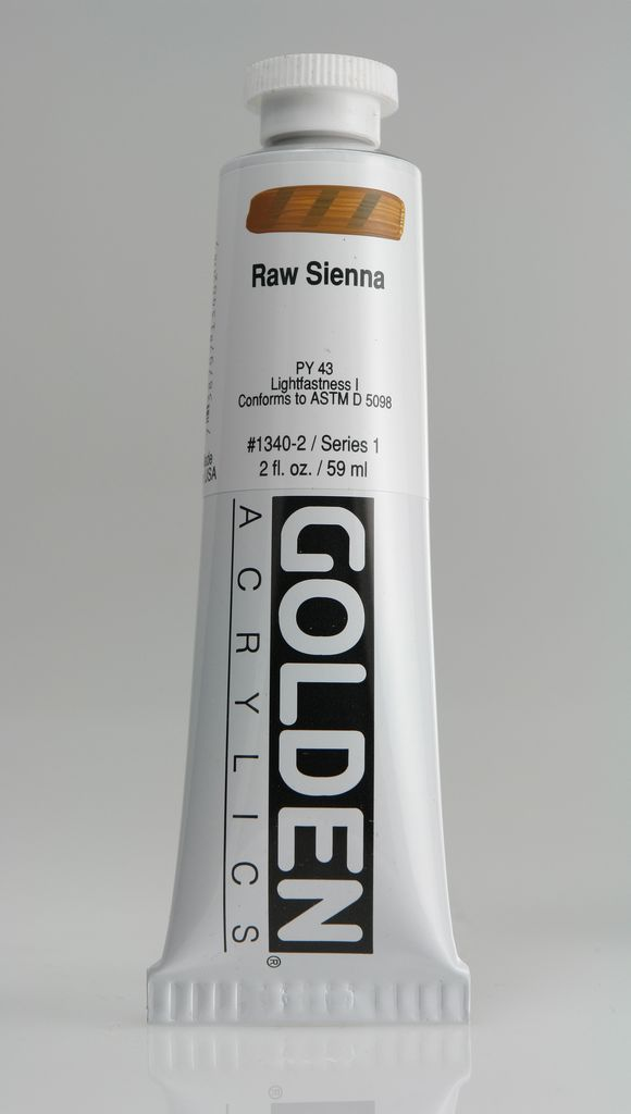 Golden, Heavy Body Acrylic Paint, Raw Sienna, Series 1, Tube, 2fl.oz.