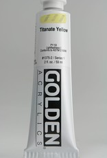 Golden, Heavy Body Acrylic Paint, Titanate Yellow, Series 1, Tube, 2fl.oz.