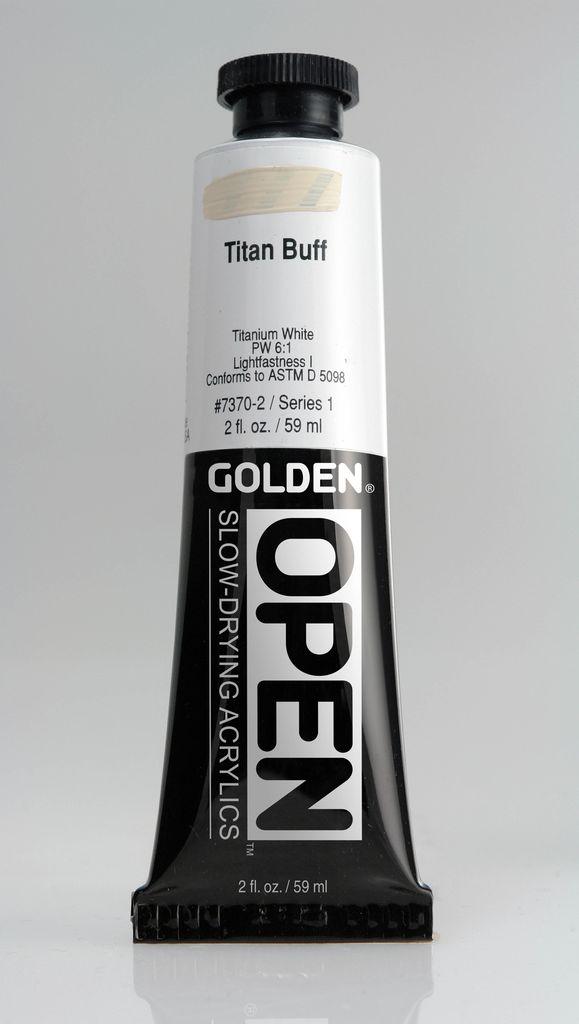 Golden OPEN Acrylic Paint, Titan Buff, Series 1, Tube (2fl.oz.)
