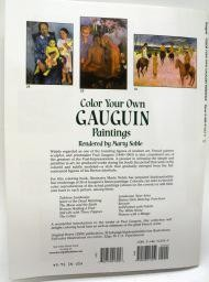 Color Your Own GAUGUIN Paintings, Coloring Book