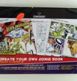 "Create Your Own Comic Book, 11"" x 17"", Contains: 20 Art Boards, 2 Comic Book Cover Sheets, 2 Concept Sketch Pages, 4 Comic Layout Pages"