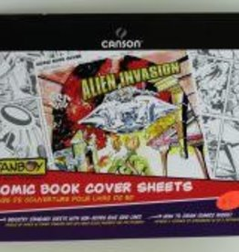 "Domestic Canson, Fanboy, Comic Book Cover Sheets, 150lb/250gm, 11"" x 17"", 12 Sheets"