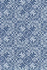 "India Indian Ornate Pattern Blue and White, 22"" x 30"""