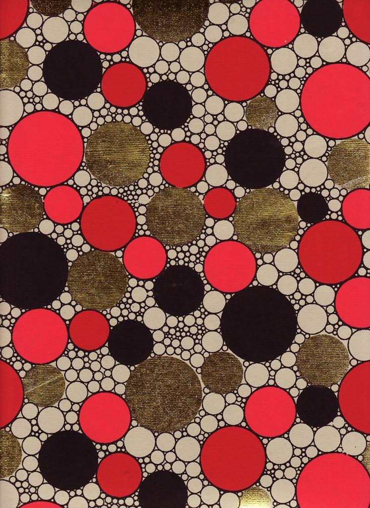 "India Indian Circle Pattern, 22"" x 30"""
