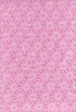 "Japan Pink Asanoha Stars, 22"" x 32"","