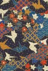 "Japan Yuzen, 3760, Origami Cranes, 19"" x 25"""