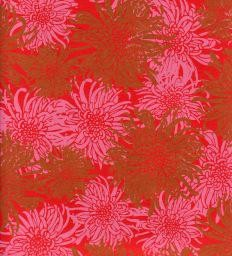 "India Laurelai Chrysanthemum on Red, 20"" x 28"""