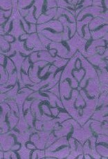 "India Indian Flocked Salon Blue on Purple, 20"" x 28"" Discontinued"