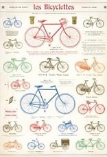 """Italy Cavallini Print, Les Bicycle, 20"""" x 28"""""""