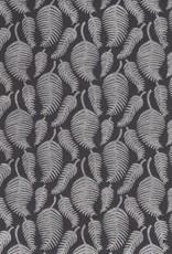 """India Silver Ferns on Black 19"""" x 27"""""""