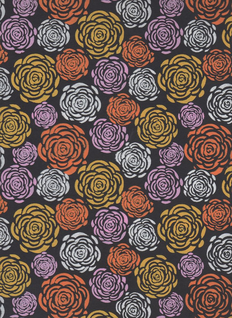 """India Colorful Mums on Black, 22"""" x 30"""""""