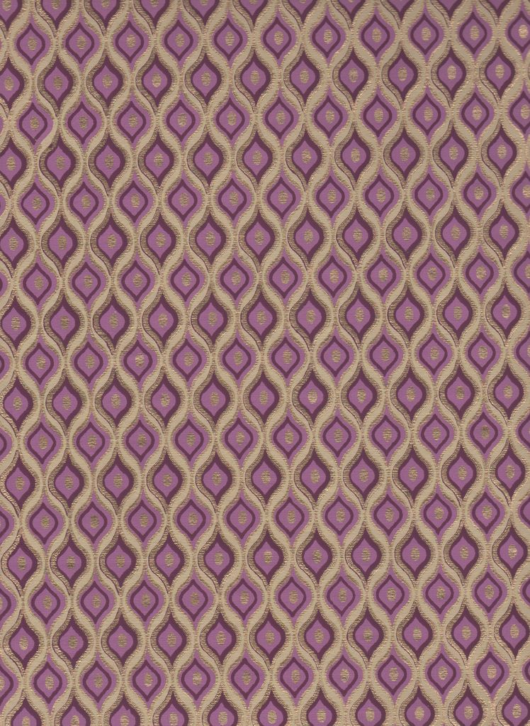 """India Gold Ogee Purple, 22"""" x 30"""" Limited Supply (Discontinued)"""