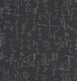 "Nepal Lokta Chalkboard Equations on Black, 22"" x 30"""