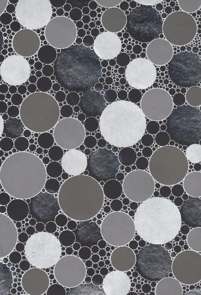 """India Indian Circle Pattern Black with Silver, 22"""" x 30"""""""