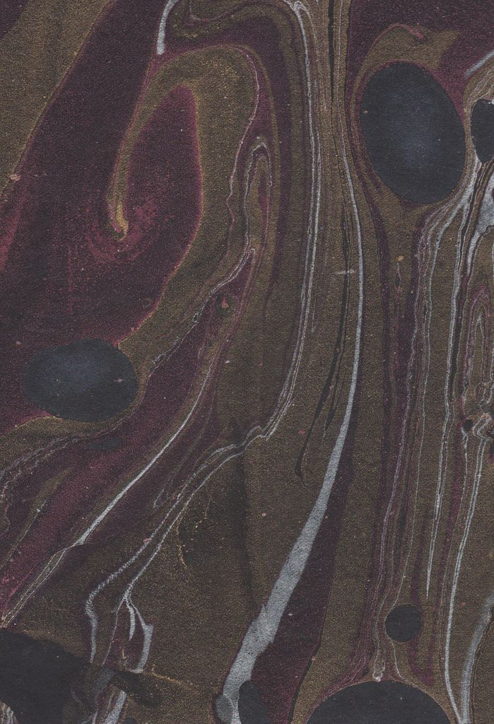 """India Indian Marble, Turkish Design, Black with Red, Gold, Silver, 22"""" x 30"""""""