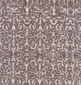"Tribal Paper Grey on White 19"" x 28"""
